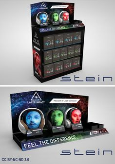 For the launch of Magnat's new Magnat.LZR headphones STEIN designed these displays.