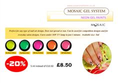 Enjoy up to 30% off from Mosaic products between 1-3 April, 2015 in store or online (until stock last)! Visit our website www.susansnailstore.co.uk  SELECTED COLOURS ONLY!