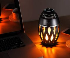 This is one of the coolest looking speakers you can have. It flickers like a candle and plays the music you love. Powered Speakers, Wireless Speakers, Dorm Room Accessories, Black Friday Shopping, Dorm Decorations, Table Lamp, Led, Plays, Candle