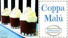 """coppa di crema al cioccolato e panna simil """"Coppa Malù"""""""
