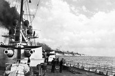 Seeschlacht vor dem Skagerrak am 31.5./1.6.1916. Das Bild zeigt die deutsche Flotte vor der Schlacht in voller Fahrt. (© picture-alliance/akg)