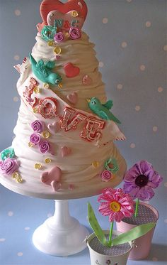 Summer of love wedding cake