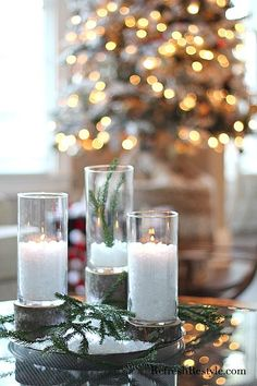 Stylish and cheap DIY Glass and Wood Candleholders from Dollar Tree ingredients! Create them in no time, I will show you how! They only take a few minutes and anyone can make them!