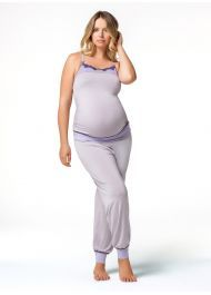 Cake Lingerie Womens Sugar Plum Camisole Animal Print Maternity Pyjama Top