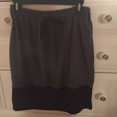 Simply Vera Wang Cotton Skirt Cotton, black and gray, ties in front Simply Vera Vera Wang Skirts