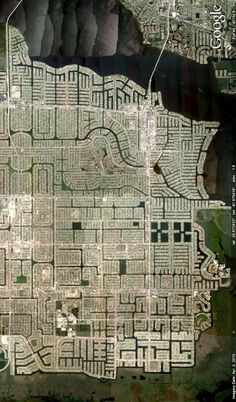 Cape Coral, Florida. Image from Google Earth.