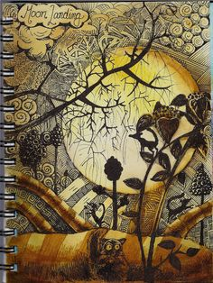 Moon Landing-Stillman Alpha by molossus, who says Life Imitates Doodles Zantangle Art, Zen Art, Doodle Drawings, Doodle Art, Grafic Design, Art Journal Pages, Art Journals, Doodles Zentangles, Art Graphique