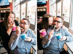 Frozen yogurt engagement shoot! #inspiration #froyo #engagement #photoshoot #photography #engaged
