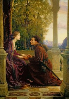 yungbabushka: pre-raphaelisme:  The End Of The Quest by Frank Dicksee
