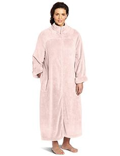 53a50bfbacb64 Casual Moments Women s Plus Size 52 Inch Breakaway Zip Robe