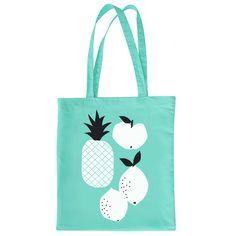 Fruits Tote Bag in Mint @Zü €12.00 #bag #illustration #print