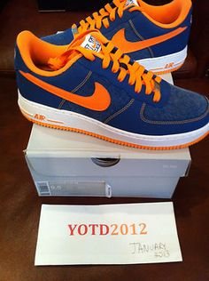 sports shoes 009bb 99e2e NEW Nike Air Force 1 One low Jeremy Lin QS  150 New York Knicks size 9.5 on  eBay!