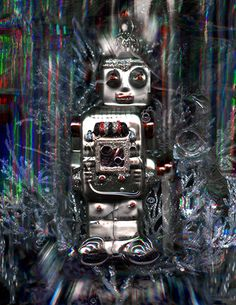 Fine Art Photograph I Robot. Whimsical portrait/ by ZeelSurreal, $40.00