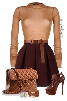 """Untitled #443"" by emsdash ❤ liked on Polyvore featuring Rick Owens, Orla Kiely, Chanel and Christian Louboutin"