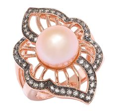 4 EASY PAYS $37.49! Sterling Silver Freshwater Pearl & White Topaz Ring