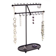 Necklace Holder Tree Stand Jewelry Organizer Storage Rack Vanity Display wTray Sharisa Black -- Continue to the product at the image link. Necklace Storage, Bracelet Display, Necklace Holder, Jewelry Holder, Jewellery Storage, Earring Holders, Jewelry Storage Solutions, Jewelry Organization, Closet Organization