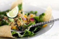 quinoa taco salad, made it, loved it, gonna make it again.