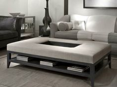Low rectangular coffee table for living room TRAY TABLE by Softhouse