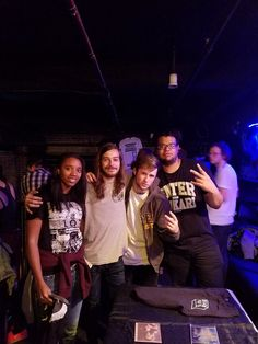 Ricky Blairlove 12 hrs  ·    I look pained but most of the crew❤ — with Corey James Hunt-Lewis, Jake Bender and Jay Bell.