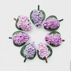 Купить Брошь Сирень - брошь, сирень, украшение, фиолетовый, сиреневый, пыльный, Вязание крючком, Нитки