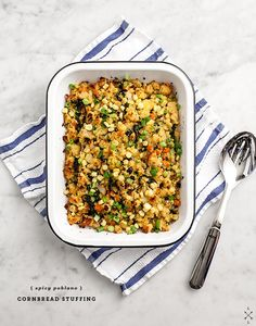 Spicy Poblano Cornbread Stuffing   32 Vegan Recipes That Are Perfect For Thanksgiving