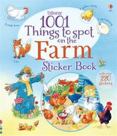 From lambs and chicks to tomatoes and fields of rice, there's so much to find and count in the busy farm scenes in this book. Little spotters can keep track of all the things they find using the stickers in the middle of the book. $7.99 www.familyreadinghabit.com