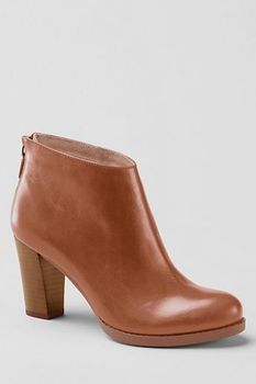 d60b48b7a54 Will look great with tights and a fall mini. Women's Rowe Back-zip High  Heel Booties from Lands' End