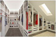 Diy home decor Loft Conversion Dressing Room, Loft Conversion Bedroom, Attic Wardrobe, Built In Wardrobe, Attic Master Bedroom, Room Decor Bedroom, Attic Spaces, Attic Rooms, Loft Design