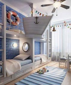 кровать морской тематики