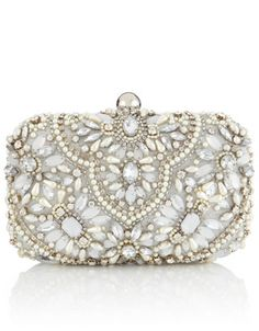 Heavy Embellished Box Clutch Bag - perfect for a night at the opera! #WIN #AccessorizeMonarch
