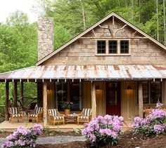 Like the style. Make farmhouse style with white hardy board siding.