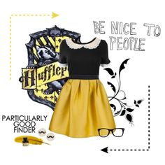 Just and Loyal by siriuslyoddsome on Polyvore featuring RED Valentino, P.A.R.O.S.H., ASOS, hufflepuff and harry potter
