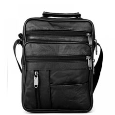 291e7f3a1b9df7 On Sale Dreamlizer Real Cowhide Leather Men Handbags Black Male Messenger  Bags Men& Small Strap Adjustable Briefcase Man Crossbody Bags