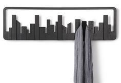 Remarkable Retractable Coat Hook To Organize Your Closet: Perfect Retractable Coat Hook Using Black Color Design With Undulating Hooks Style ~ steffsays.com Decorating Ideas Inspiration