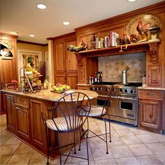 Modern Country Kitchen   ... you planning to build your own country style kitchen? We say go ahead