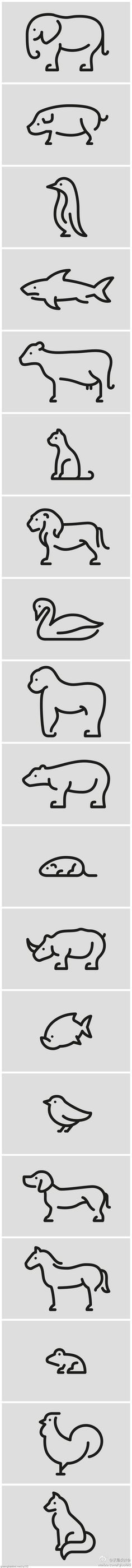 Animal Pictograms by Jan Filek, via Behance