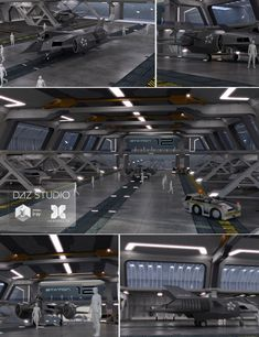 This is a detailed model of a Sci-fi Space Dock with (Sci-fi Jet, static object), a Space Dock Warehouse, Tand Tug (Trailer, static object). Spaceship Interior, Futuristic Interior, Spaceship Art, Spaceship Design, Star Citizen, Space Engineers Game, Starship Concept, Sci Fi Environment, Concept Ships