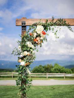 Coral Wedding Centerpieces, Greenery Centerpiece, Wedding Summer, Dream Wedding, Wedding Day, Wedding Themes, Wedding Venues, Wedding Signage, Blue Ridge