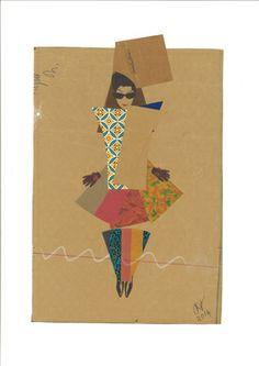 """Saatchi Art Artist Hormazd G Narielwalla; Collage, """"Fancy Diane """" #art"""
