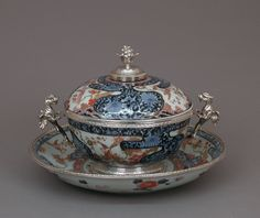 Paul Le Riche | Bowl with cover and stand | Japanese with French mounts | The…