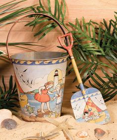 Look at this Vintage Sand Pail & Shovel on #zulily today!