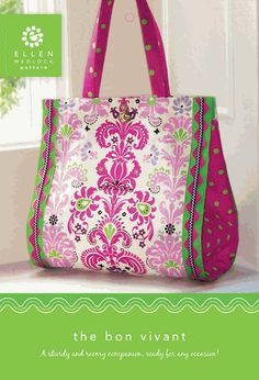 One PDF Download of The Bon Vivant Bag Pattern Booklet