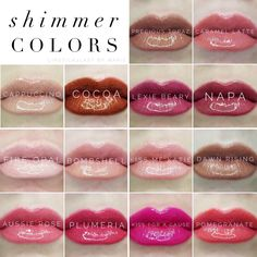 Current LipSense Shimmer colors available as of 10/9/2017