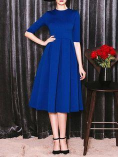 Royal blue vintage style