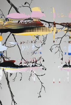 """Nanna Hanninen, """"Painted Branch of Alder"""" digital C-print on diasec, mounted on MDF with Oak frame. Art And Illustration, Modern Art, Contemporary Art, Contemporary Photography, Painted Branches, Nature Artists, Digital Print, Art Graphique, Painting & Drawing"""