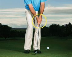 "To ""scoop-proof"" your chipping, point a finger down the shaft of your club. http://golfdig.st/x9EjGO"