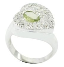 Peridot 925 Sterling Silver Ring elegant Green handcrafted AU gift