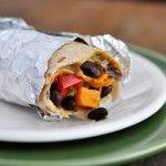 black bean & sweet potato burritos -- also good as a quesadilla filling