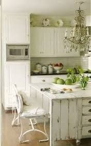 Image result for white kitchen island shabby chic