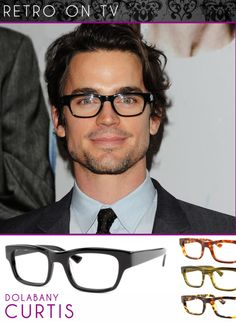 6f853574e63  White Collar  actor Matt Bomer wearing some chunky black frames. Do you  love